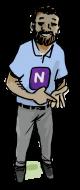 Cartoon drawing of Naran, a Self unLimited adventurer
