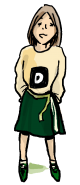 Cartoon drawing of Dominique, a Self unLimited adventurer